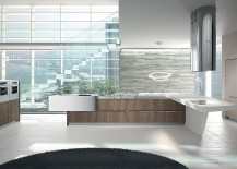 Stunning Yoshi kitchen from Arrital with a captivating central island and workstation