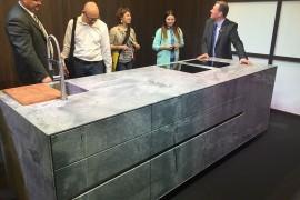 Stunning kitchen islands in granite unveiled by Strasser at EuroCucina 2016