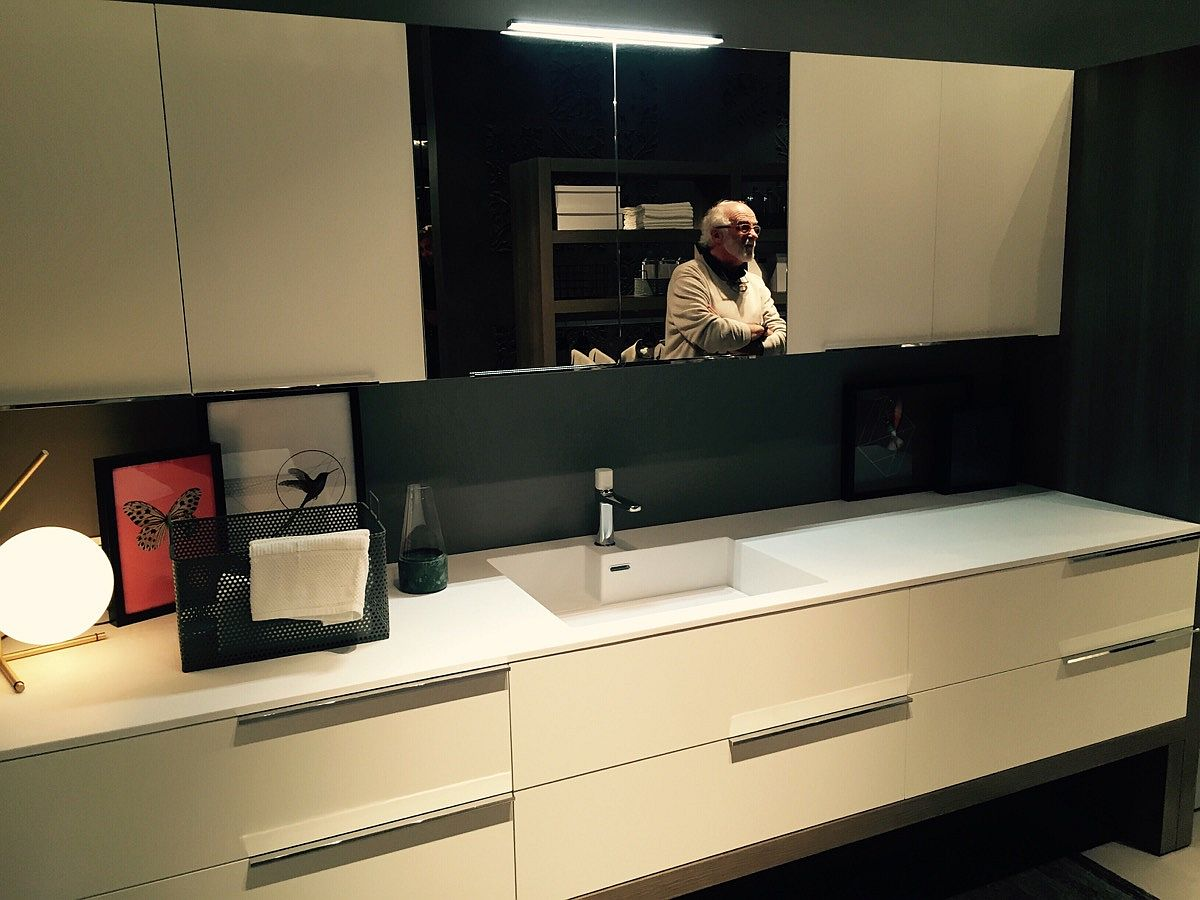 Tasteful modern bathroom cabinets and mirrors from IDEAGROUP