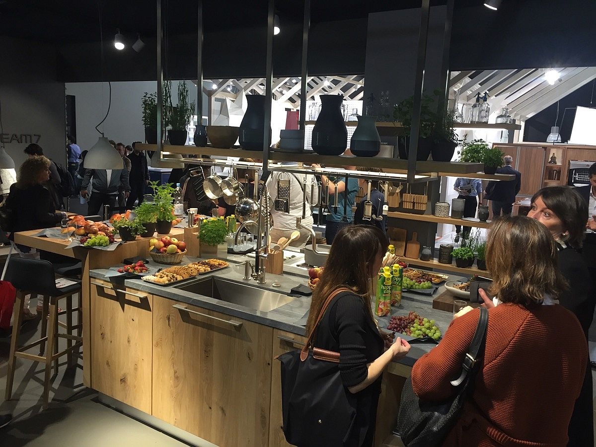 Team7 stand at EuroCucina 2016, Milan filled witheir latest kitchen models and smart design solutions
