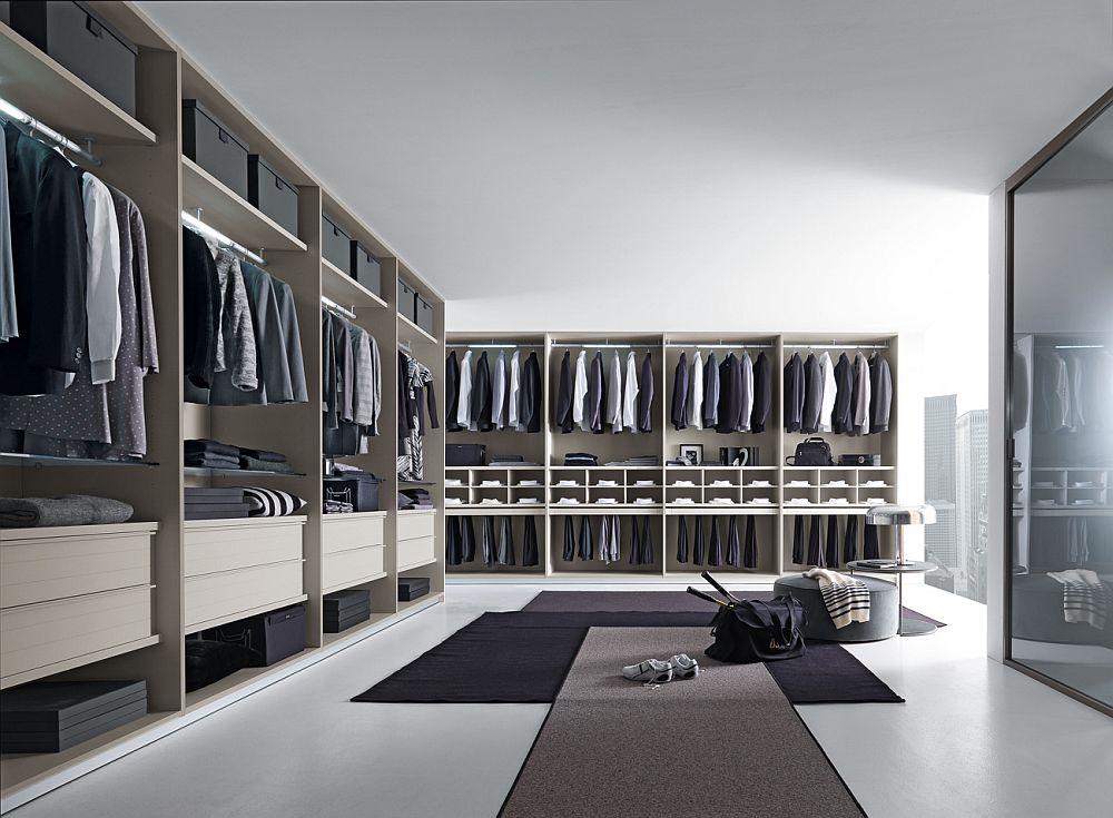 View in gallery Tecnopolis walk-in closet from Anima Domus