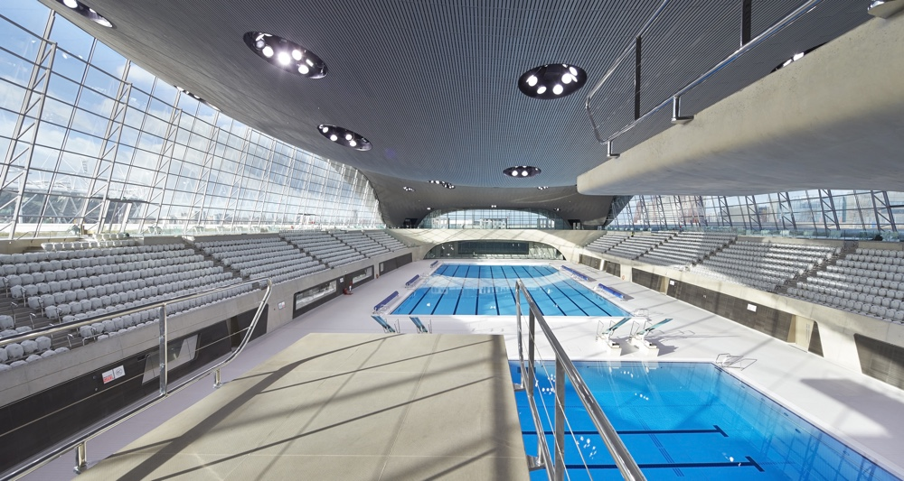 The London Aquatics Centre interior