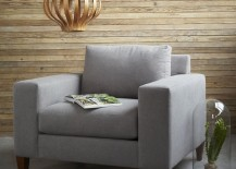 Thin horizontal wooden paneling