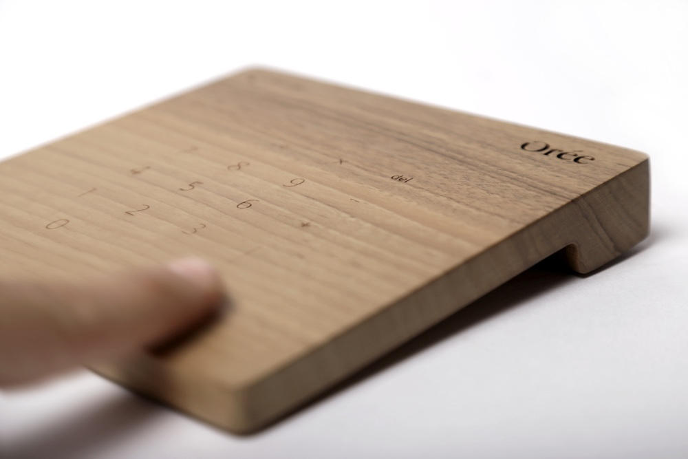 Touch slab wooden trackpad