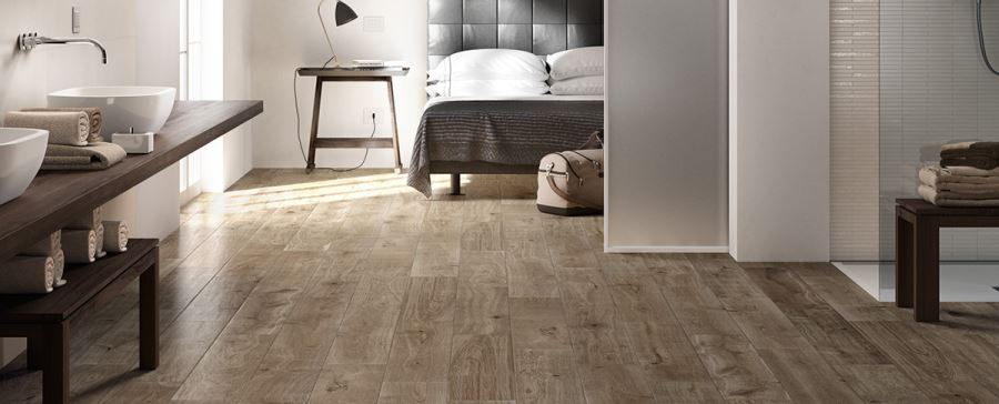 Treverkever porcelain tile for the bedroom