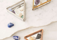 Triangle glass boxes from Urban Outfitters