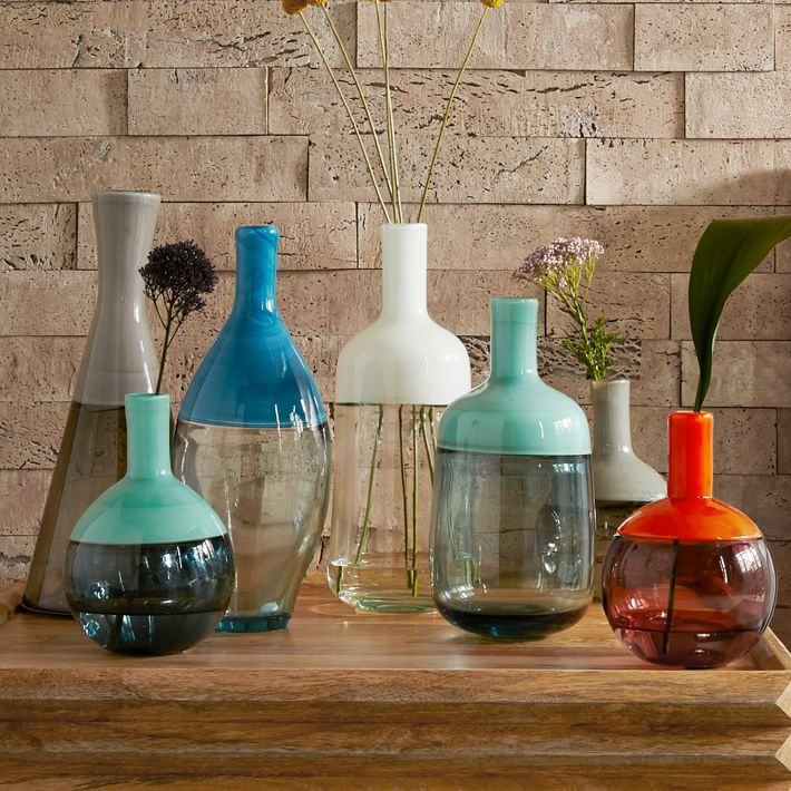 Two-tone glass vases from West Elm