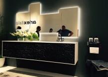 Unique textural finish of bathroom vanity from ArlexItalia at Slaone del Mobile 2016