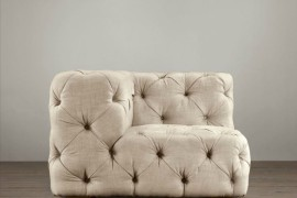 Upholstered corner chair from Restoration Hardware