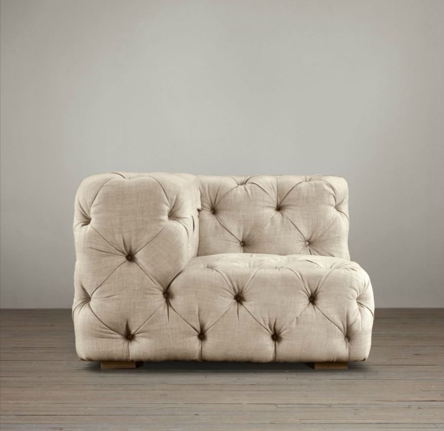 Upholstered corner chair from Restoration Hardware