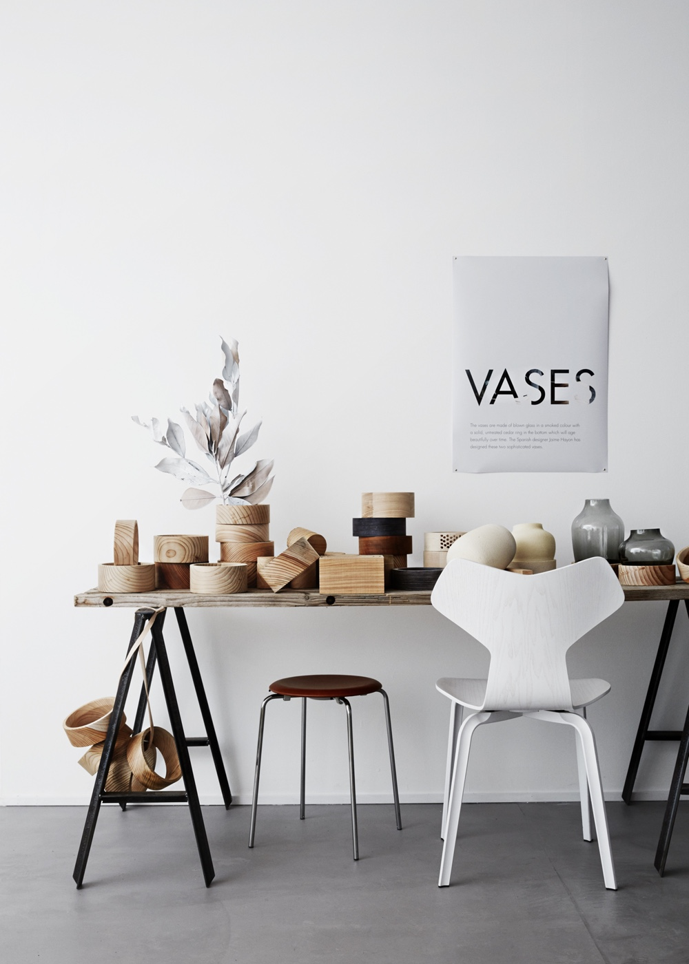 Vases and Dot Stool