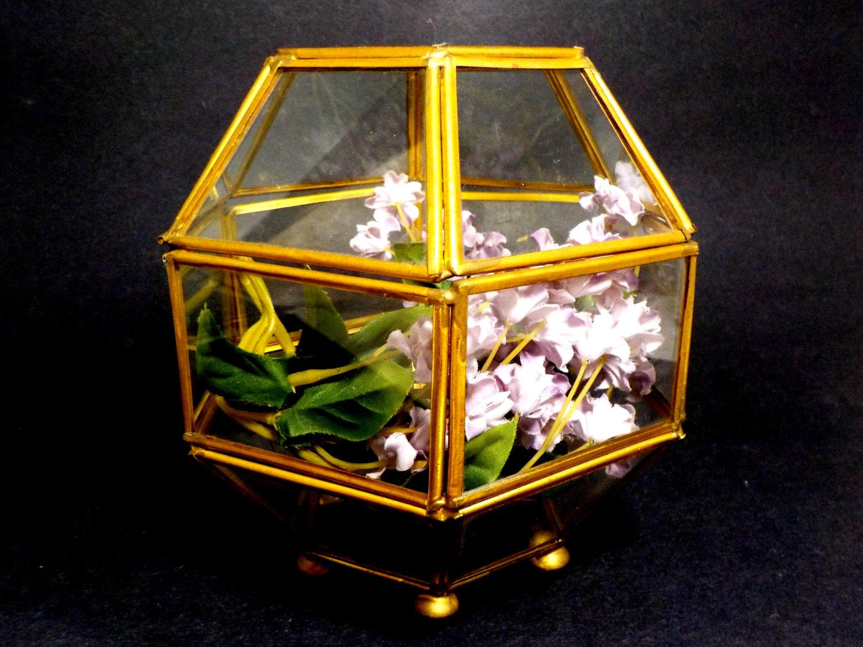 Vintage geometric terrarium