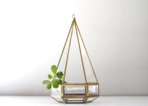 Vintage hanging teardrop terrarium