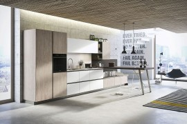 Visibly handle-less cabinet doors gove First its distinct look