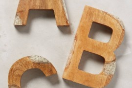 Wood and resin letters from Anthropologie
