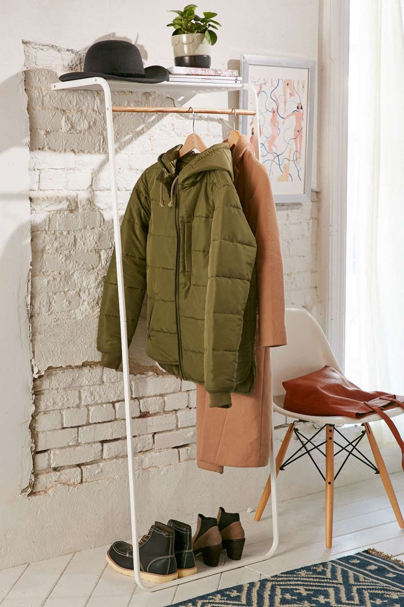 Wood and steel clothing rack from Urban Outfitters
