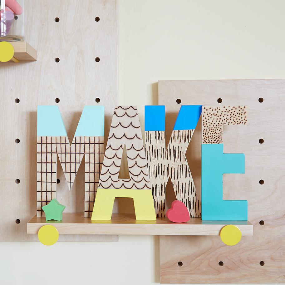 with lights home size m for decor image k h on decorations full of pinterest wooden letters decorated letter ideas decoration blocks best crafts decorating and decorative