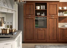 Wooden cabinets add classic charm to the Contrada kitchen