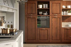 Wooden cabinets add classic charm to the Contrada kitchen 270x180 Contrada: Time for a Modern Vintage Makeover from Arrital