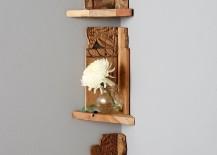 Wooden corner shelf from Anthropologie