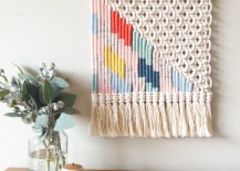 Woven wall hanging from Etsy shop Kate and Feather