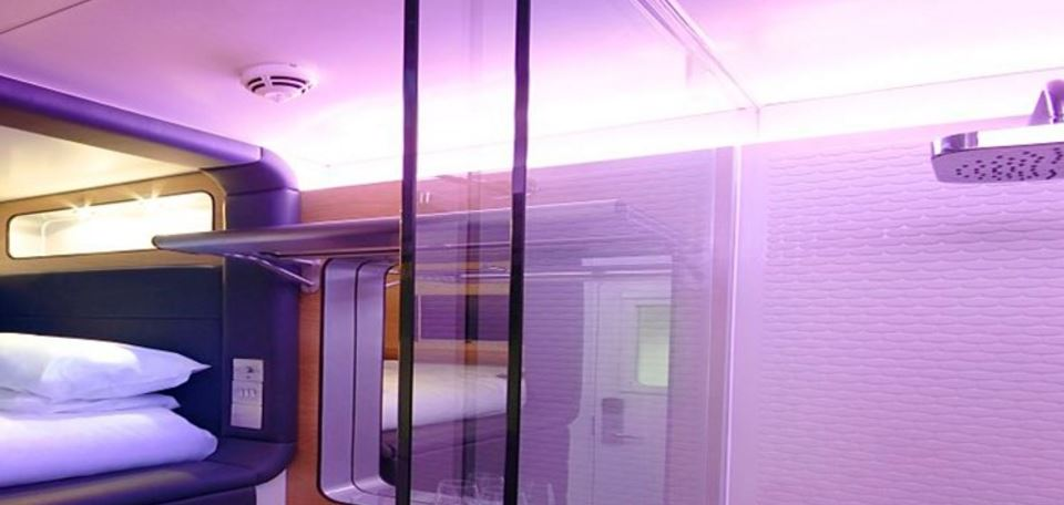 Yotel offers sleeping and showering areas