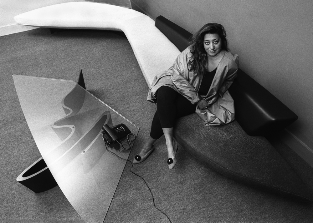 Zaha Hadid in her London office circa 1985 Zaha Hadid: Architecture's Grande Dame