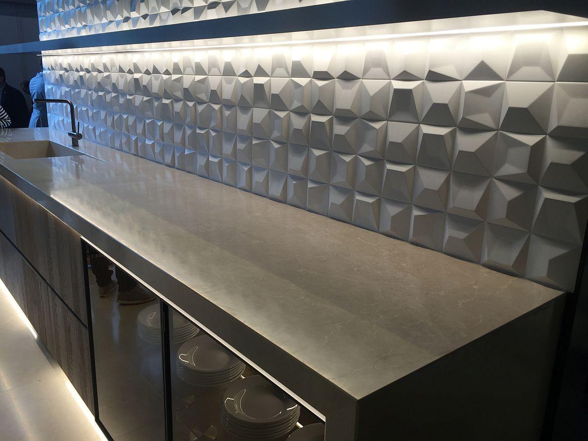 3d Geometric Tiled Backsplash For The Kitchen Decoist