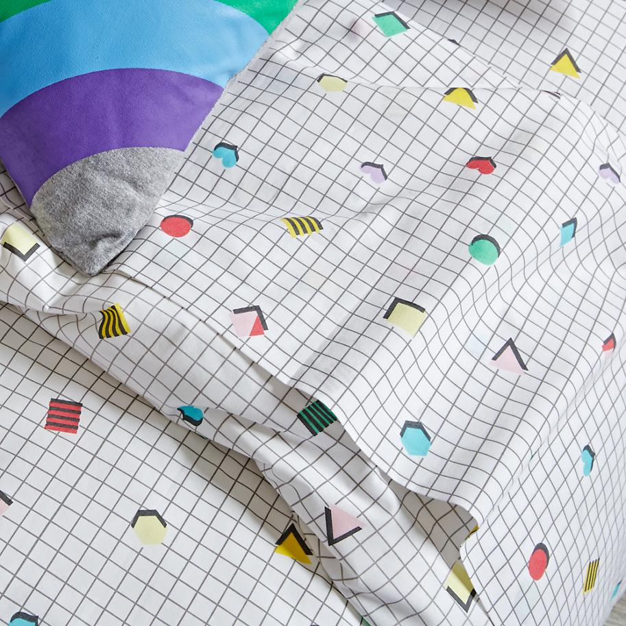 '80s-style bedding from The Land of Nod