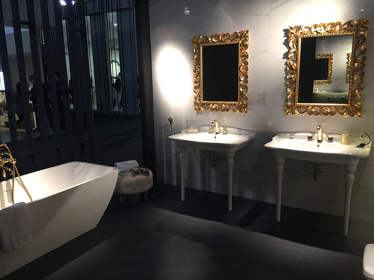 A touch of gold for your contemporary bathroom - Bathroom decor trends from Salone del Mobile 2016 from Newform