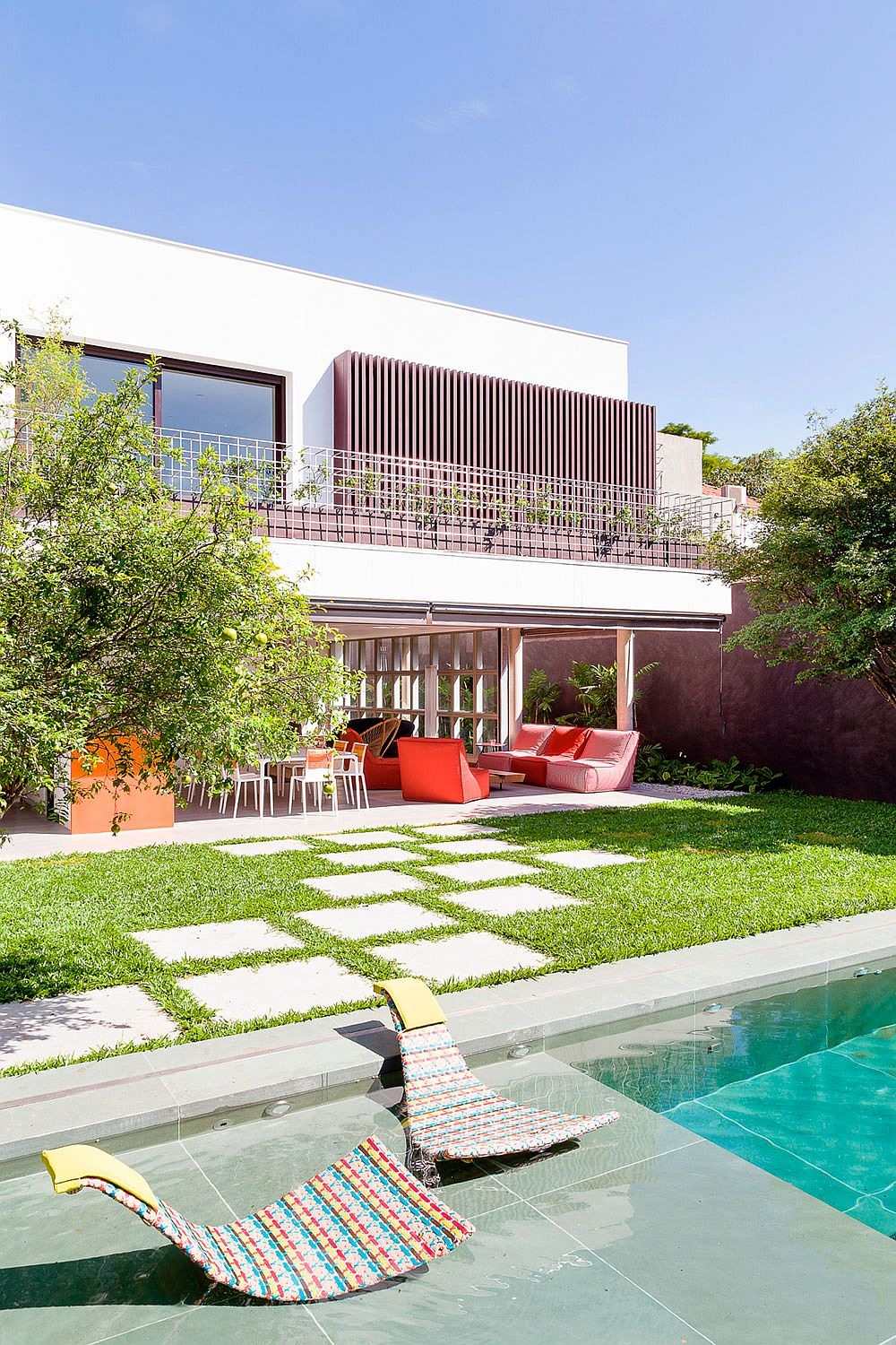 AA House in São Paulo Brazil A World of Green: Cheerful São Paulo Residence with Vibrant Pops of Color