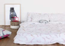 Abstract bedding from Feliz 217x155 Spring Bedding Ideas: Abstract and Geometric Motifs
