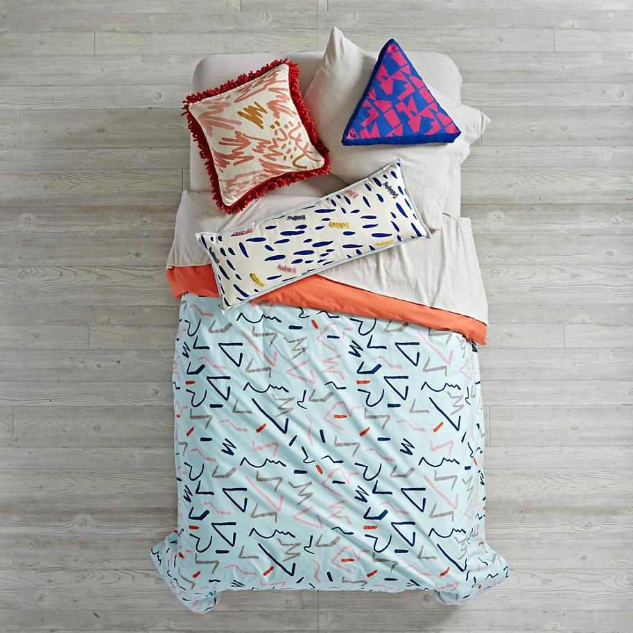 Abstract duvet cover from The Land of Nod