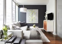 Accent-wall-with-a-piece-of-wall-art-217x155