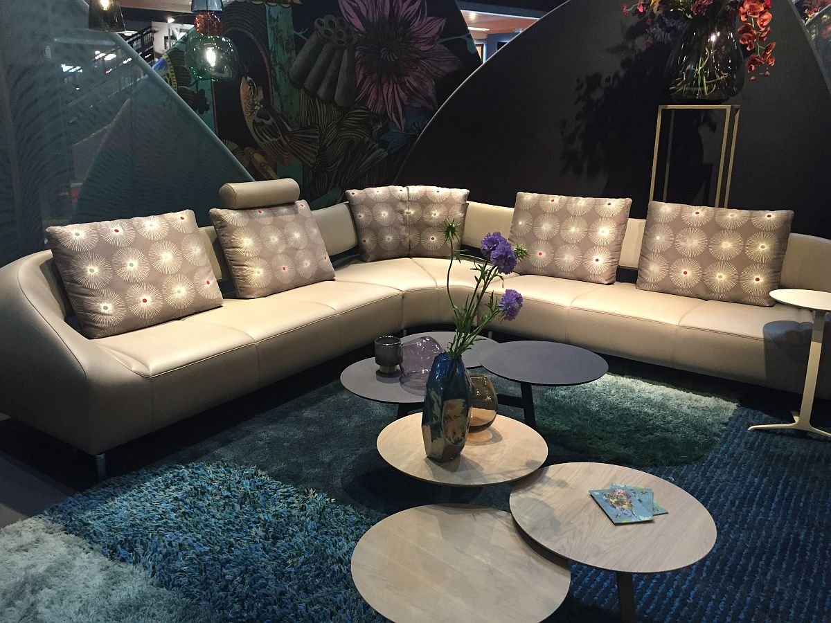 Affordable and unique new living room decor from Leolux - Milan 2016