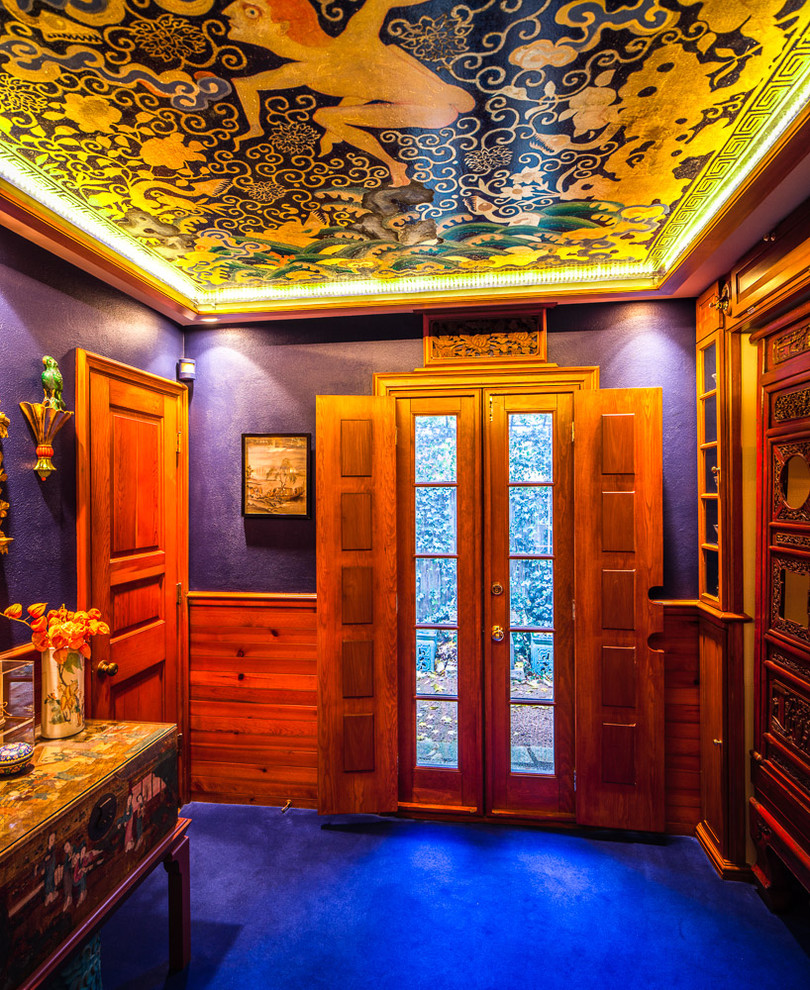 An Asian entry with a showstopping celling [Design: MGLM Architects / Bill Meyer Photography]