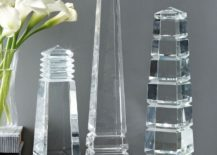 Assorted crystal obelisks from Bliss Home & Design