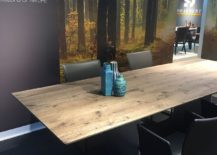 Atlas dining table with wooden top by Draenert at Salone del Mobile 2016