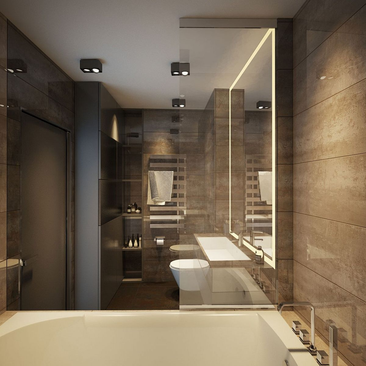 Apartment ernst in kiev inspired by posh hotel ambiance for Luxury bathroom designs