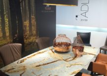 Awesome Adler dining table steals the show with its natural stone top - Draenert at Milan 2016