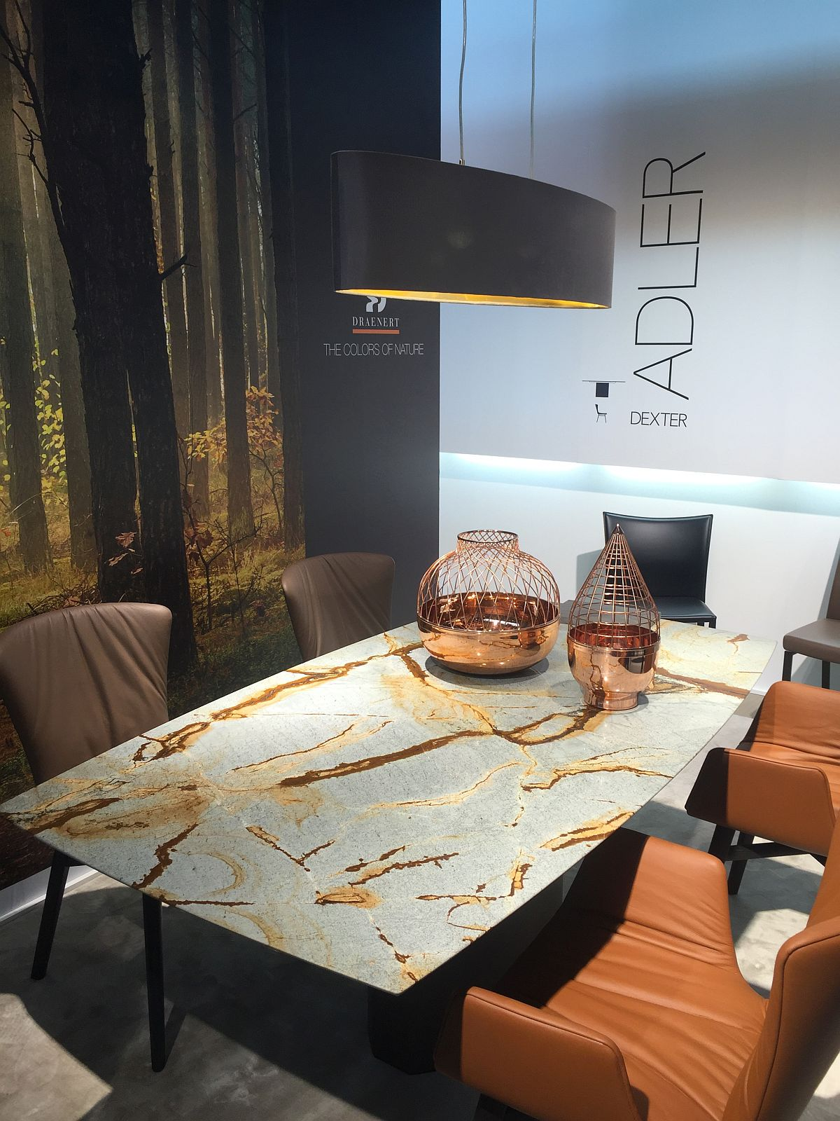 Awesome Adler dining table steals the show with its natural stone top – Draenert at Milan 2016