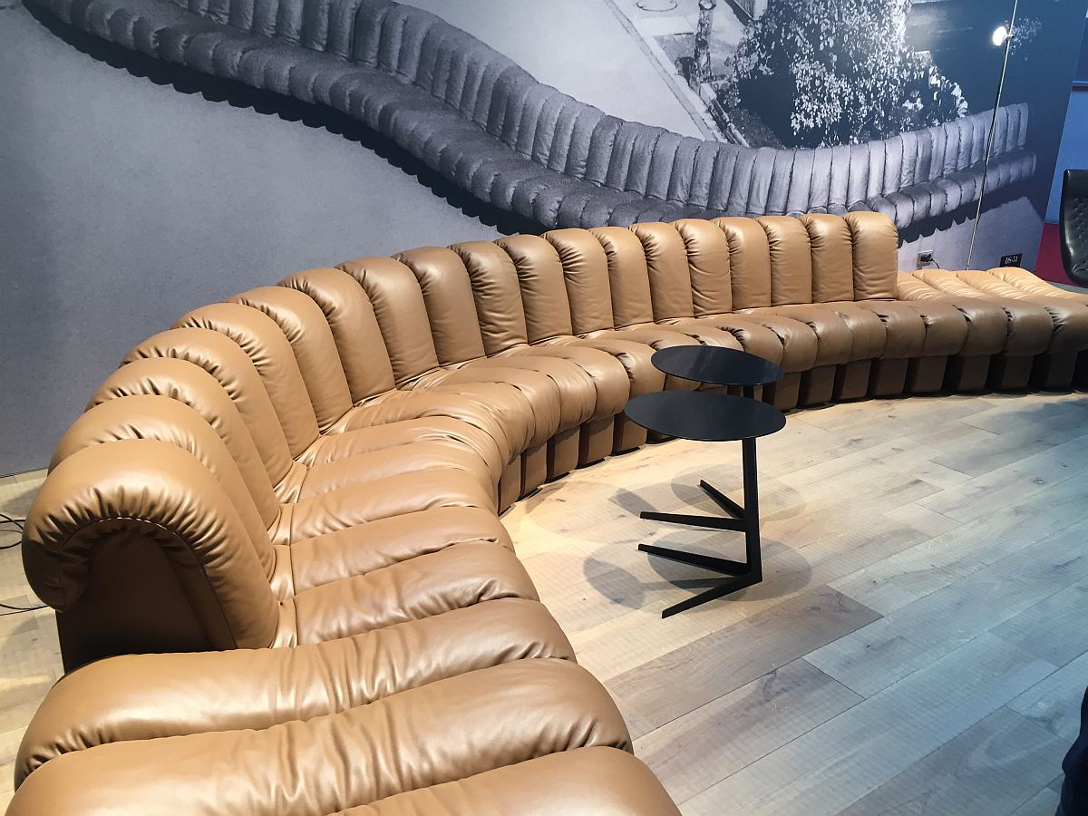 Awesome DS-600 offers unlimited configuration options and seating patterns - de Sede at Salone del Mobile 2016