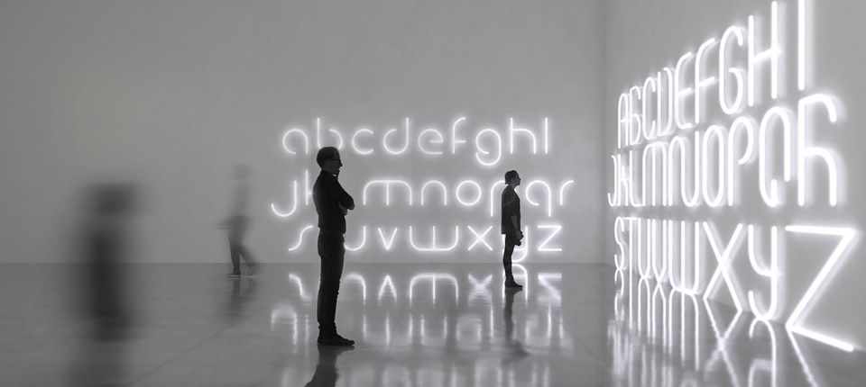 Alphabet lamp by BIG for Artemide.