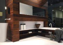 Bathtub and bathroom storage become one with Falper