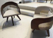 Beautiful armchairs bring forth the very best of Brazilian deisgn - Raiz