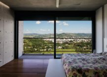 Bedrooms on the second level of the expansive Brazilian home