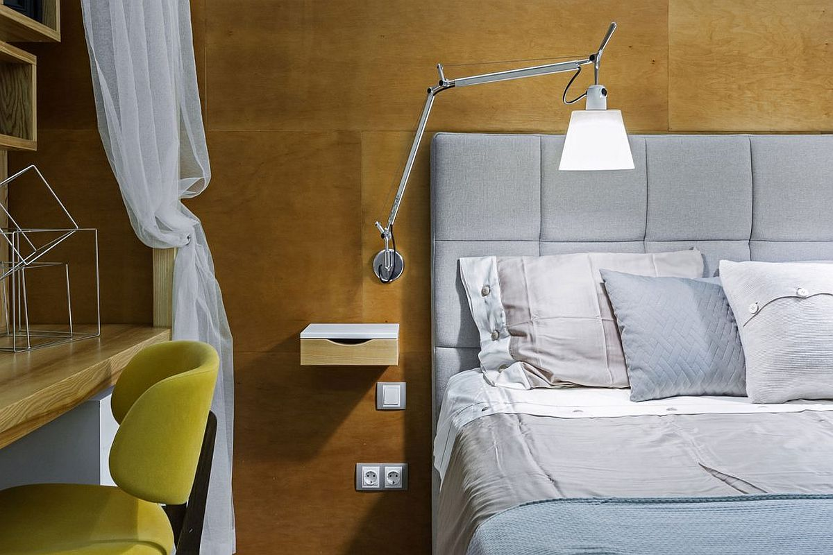 Bedside sconce lighting saves up space