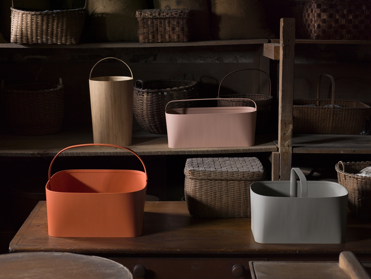 Bentwood baskets by Studio Gorm