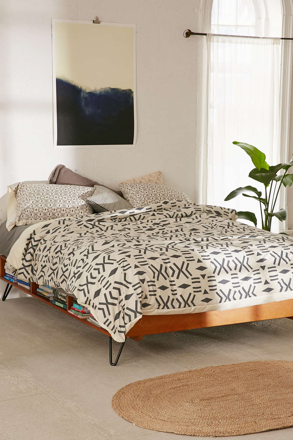 Black and white duvet cover from Urban Outfitters