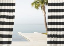Black striped outdoor curtains from West Elm